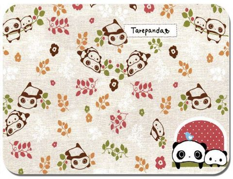 Tare Panda Embroidery Pattern Mouse Mat Japanese Animation Kawaii Mouse pad
